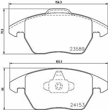 MINTEX MDB2672 BRAKE PAD SET DISC BRAKE Front