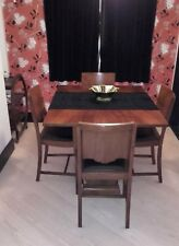Art Deco Dining Table (folding/extending) & 4 Chairs – 1920s 1930s 1940s Vintage