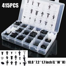 415PCS Auto Car Push Retainer Pin Rivet Trim Clip Panel Moulding Kit Plastic Box
