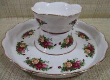 Royal Albert Old Country Roses 2 In 1 Vegetable/Chip N Dip or Cake Platter/Plate