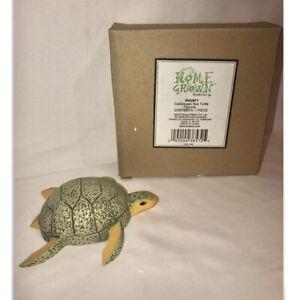 Enesco Home grown Vegetable Figurine Cantaloupe Sea Turtle W / Box