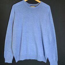 James Pringle Mens Blue Cotton Sweater Jumper Size L ( J4)