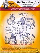 Horses & Colts Aunt Martha's Hot Iron on Embroidery Transfer #3936
