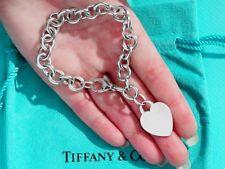 Tiffany & Co Argento Sterling PLAIN HEART TAG Bracciale con Charm 7.5 in (ca. 19.05 cm)