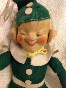 """Seldom Seen Super Rare VTG 1930s 15"""" Elf Doll from Krueger of NY Nice Condition"""