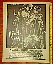 Original Lee Brown Coye Poster Double-H Press 1967 Weirdisms New Albion Bookshop