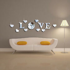 IOU Modern Mirror Style Removable Art Mural Wall Sticker Home Room DIY Decor