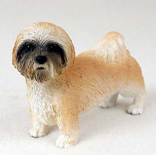 Lhasa Apso Hand Painted Collectible Dog Figurine Brown Sport