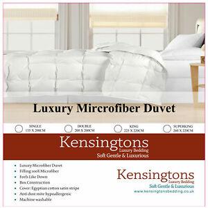 Kensingtons® New Luxury Microfiber Duvets Warm Winter Quilt Soft Cosy & Pillows