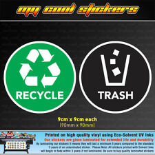 Recycle & Trash Vinyl Sticker Decal for garbage bins. OH&S