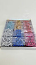 144 Glitter Plastic Snowflake Ornaments Christmas Holiday Tree Decorations