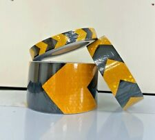 Direction Arrow Yellow Reflective Conspicuity Adhesive Tape 25 50 100mm / 1-40m