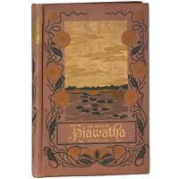 1898 Antique Hiawatha Longfellow Native American Indian Fine Gilt Binding Illus