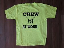 ROWING TEAM Oarsman Row Bright Neon Yellow CREW AT WORK T-SHIRT Size Adult LARGE