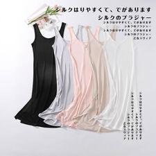 sleepwear for women 100% silk Bottom Dress solid color Nightdress slip dress 3XL