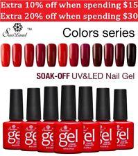 Semi Permanent Nail Polish Gel Gradient Red Series Uv Soak Off Top Base Saviland