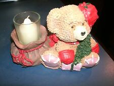 Christmas Ceramic Bear Candle Holder with Candle included