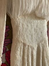 Vintage 1950's Chantilly Lace Wedding Dress - needs repair Xs