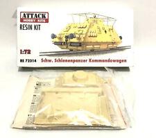 Attack Hobby Kits RESIN 1/72 German Armored Train Schienenpanzer Kommandowagon