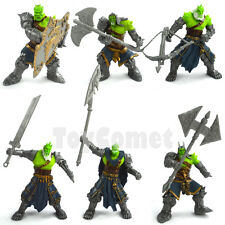 Set of 6 Orc Warrior Legion of Thunder Action Figures Playset