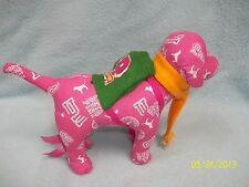 """Victorias Secret PINK Plush Dog 8"""" w Backpack & Scarf ~ LQQK in here >>>"""