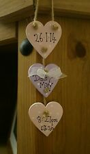 shabby chic personalised baby girl small heart shaped plaque keepsake gift sign