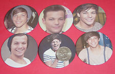 """One Direction Louis Tomlinson Set Of  6 LARGE 2 1/4"""" Buttons Pins Party Favors"""