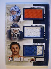 Dubnyk Ranford Fuhr 2011-12 Between The Pipes FRANCHISE TRIPLE JERSEY OILERS /50