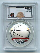2020 P $1 Colorized Basketball Commemorative PCGS PR69DCAM First Strike Private