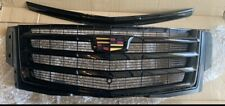 CADILLAC ESCALADE GRILLE GRILL & Hood Trim BLACK COLOR OEM 2015i -2018