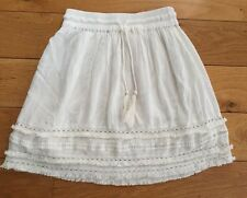 H&M Off WHITE/CREAM CRINKLE EFFECT COTTON LACE SKIRT SIZE 8 EUR34 BNWT NEW
