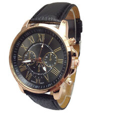 Stylish Women Watch Numerals Faux Leather Analog Quartz Lady Geneva Wrist Watch