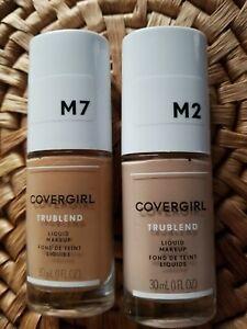 2 bottle CoverGirl TruBlend Liquid Makeup M1 Natural Beige