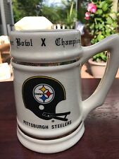 1975 Super Bowl X Pittsburgh Steelers Super Bowl Champions Mug
