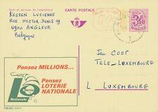 BELGIUM ANGLEUR 1 (LUIK) SC 1974 Postal Stationery 3,50 + 0,50F PUBLIBEL 2541 F.