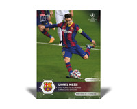 Lionel Messi - 2020 UCL Topps Now UEFA Champions League Card #1 FC BARCELONA