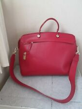 FURLA RED LEATHER PIPER XL SHOULDERSATCHEL SHOULDER BAG HANDBAG