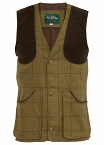 Alan Paine Rutland Shooting Tweed Waistcoat Lichen Men's Hunting RRP £169.95