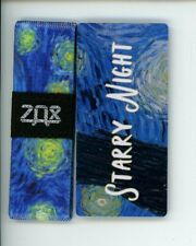 Small ZOX Silver Strap STARRY NIGHT Wristband with Card Reversible