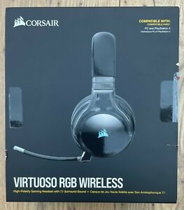 Corsair Virtuoso RGB Wireless Headset For PC / Playstation PS4