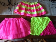 choice 1 girls size 10 Justice skirt  pink yellow sequence P S sz 8 H&M sz 7-8