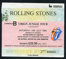 1990 Rolling Stones concert ticket stub Urban Jungle Bill Wyman last concert