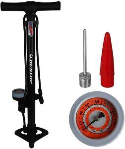 Dunlop Stirrup Bike Floor Pump Garage Tyre Inflatables Presta Schrader