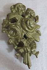 Waxford Vintage Old Brass Doorknocker Floral Bouquet Victorian Shabby Chic Rare