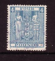 NEW ZEALAND....  1931 arms  £4 blue  used