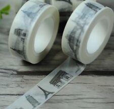 Paris NY Sydney World  1.5cm X 7m Washi Tape DIY Scrapbook Album Diary - m