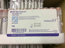BD vacutainer no additive PLUS Tube 13x75mm 3,0ml 366703 100 PEZZI NUOVO