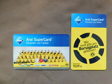 2 prepaid Tankcards Duitsland - ARAL  BVB 09 / Football