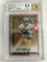 2000 Score Preview Rookie Roll Call Auto /50 Tom Brady Rookie Card BGS 6.5 / 10
