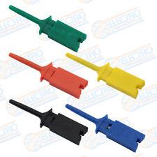 Lote 5 Puntas de prueba plana con pinza VARIOS COLORES clip test hook